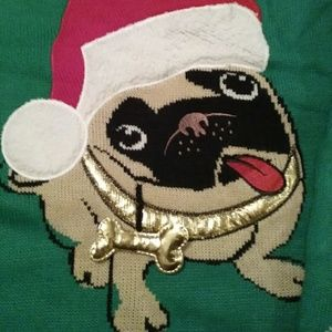 Sweaters - Ugly Christmas Sweater Women's plus size 2x Pug